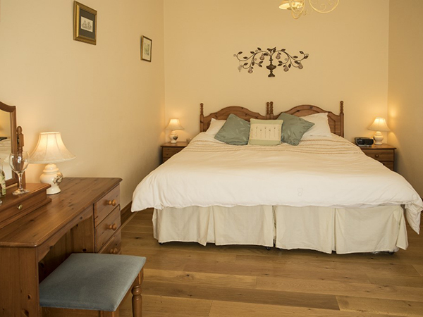 Beautiful double room at Forda Farm B&B, North Devon EX22 7BS.