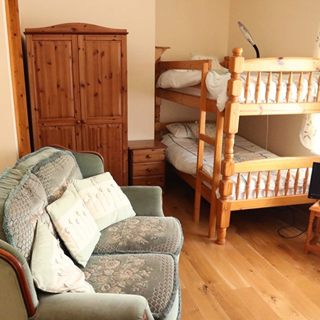 A beautiful twin room that is perfect for the children when on a family holiday.
