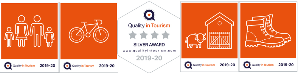 Forda Farm Bed and Breakfast was awarded a silver award in Quality in Tourism in a range of categories.