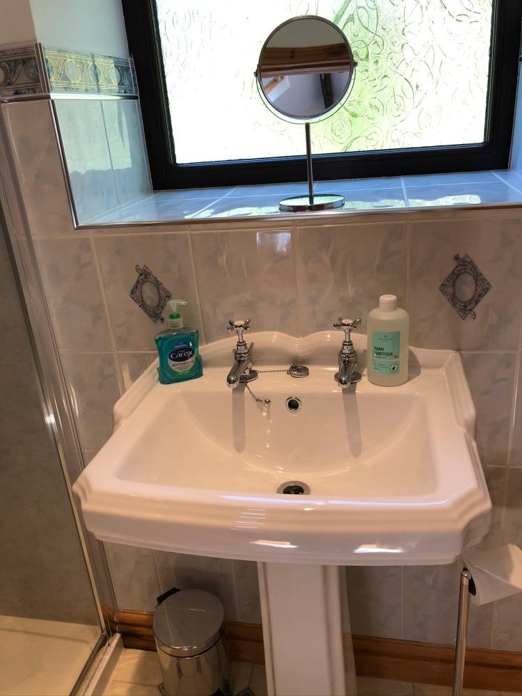 Forda Farm Bed and Breakfast boast bright, clean bathrooms.