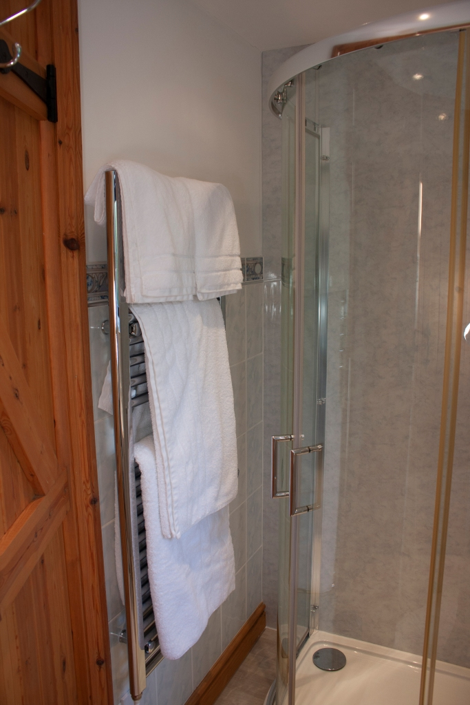 Enjoy a bright clean bathroom when you stay at Forda Farm Holidays.