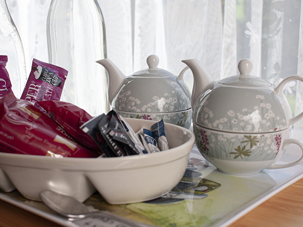 Enjoy the complementary tea, coffee and hot chocolate provided to all guests at Forda Farm.