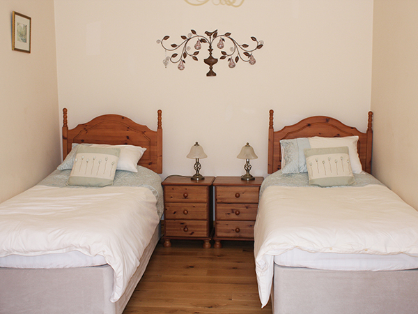 The Torridge Room at Forda Farm can be split into three singles or a double and one single.